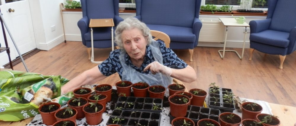 Gardening at Glebe House