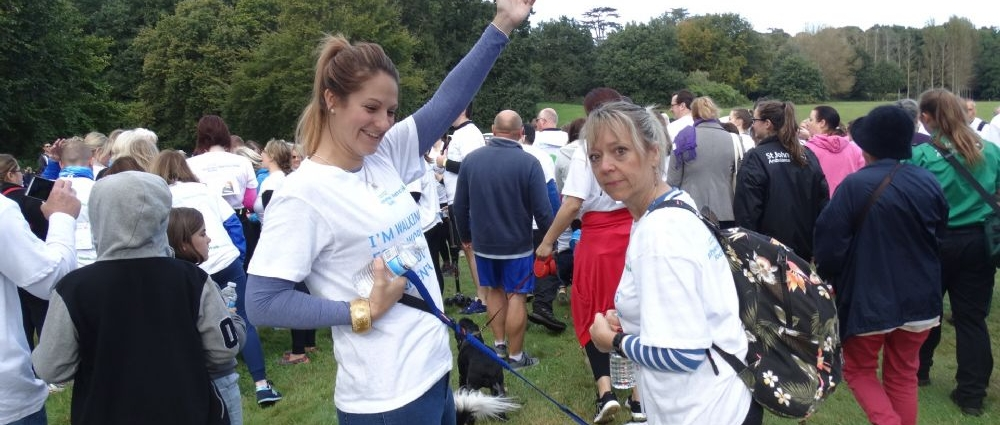 The Surrey Memory Walk in aid of Alzheimer's Society.