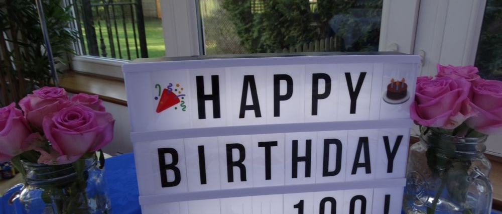 100th Birthday sign