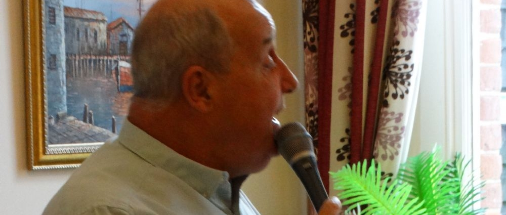 Terry James sings at Glebe House