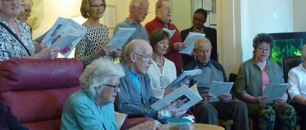 Caterham Rotary Club Entertain and sing Happy 90th Birthday