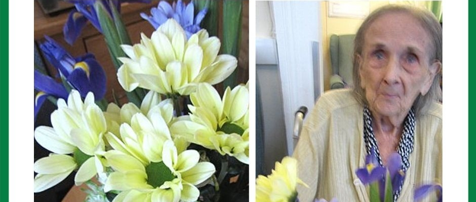 The residents got involved in some flower arranging