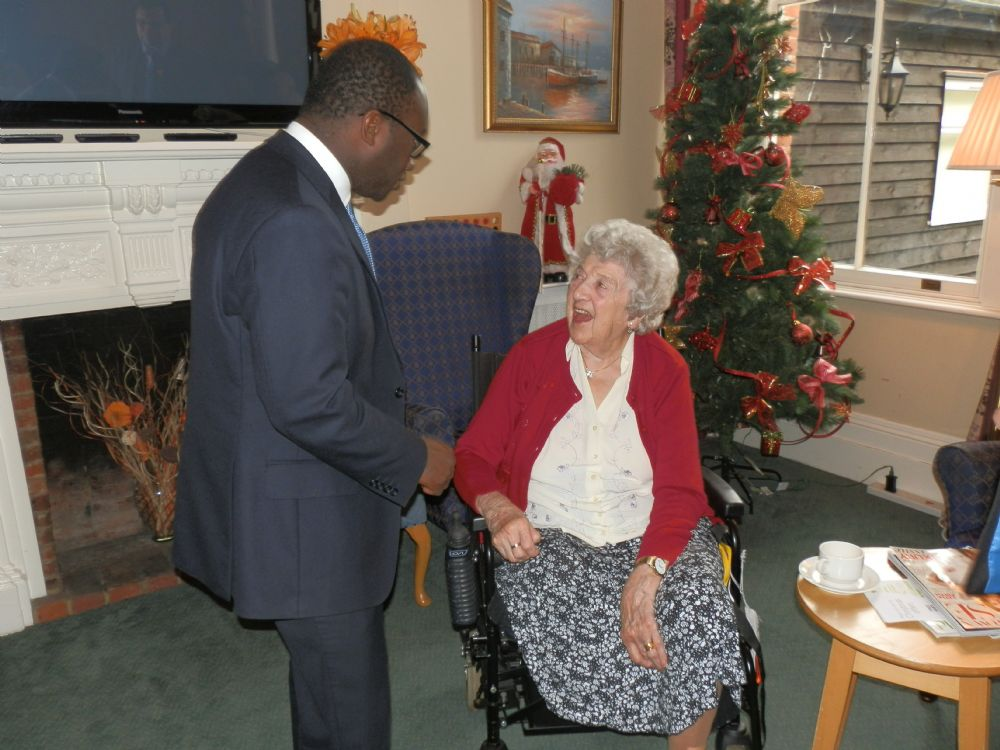 Visit from Sam Gyimah